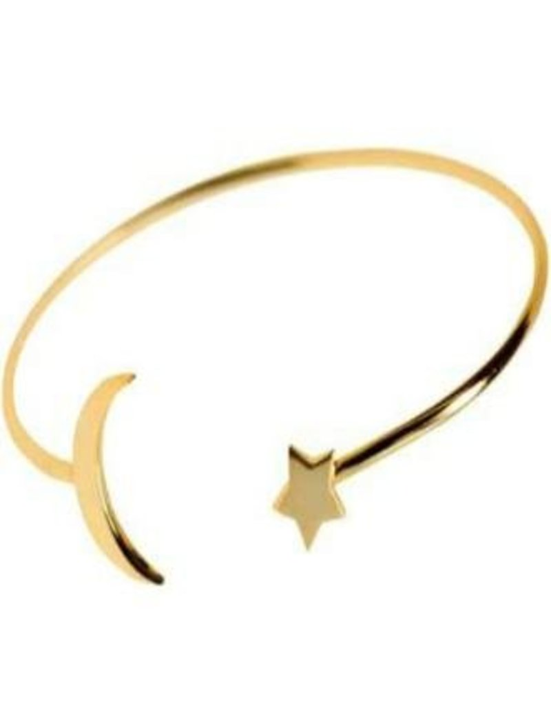 Betsy Pittard Gold Star and Moon Bangle