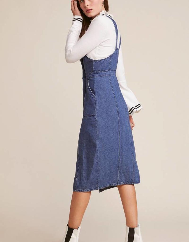 BB Dakota Labor Day Blues Overall Dress