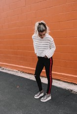 Blank NYC Do the Hustle Red Stripe Pants