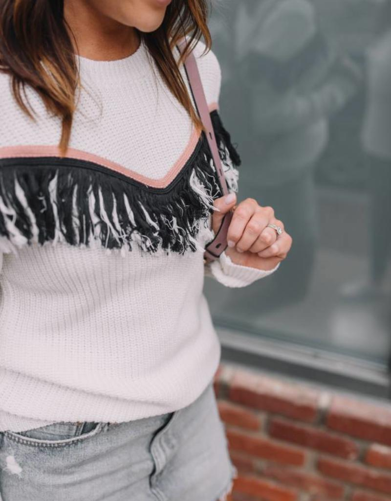 English Factory Mix it Up Fringe Sweater