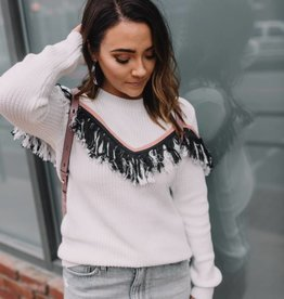 English Factory Mix it Up Fringe Sweater