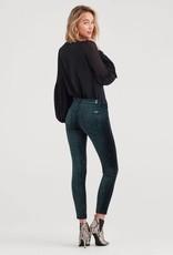 7 For All Mankind Velvet Ankle Skinny -  Blackended Emerald