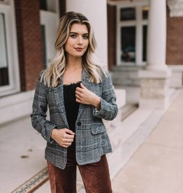 Cupcakes & Cashmere Out of the Woods Plaid Blazer