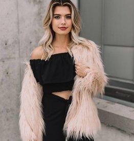 Lost + Wander Speak Now Faux Fur Coat