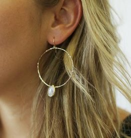 Joy Dravecky Fall Pear Stone Hoops