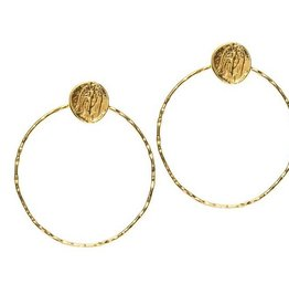 Joy Dravecky Fortune Hoop Earring