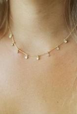 Joy Dravecky Fine Mini CZ Drop Necklace