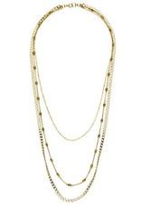 Joy Dravecky Sleek Trio Necklace - Rose Gold