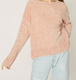 Sanctuary Chenille Pullover  - Pink Scotch