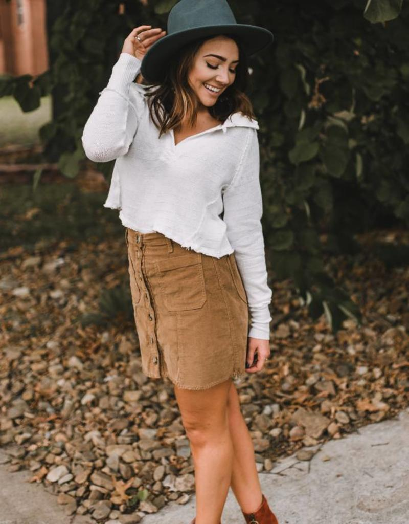 Free People Love Fifteen Collared Top