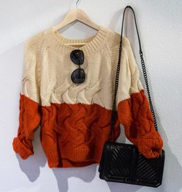 The Korner Colorblock Twisted Sweater