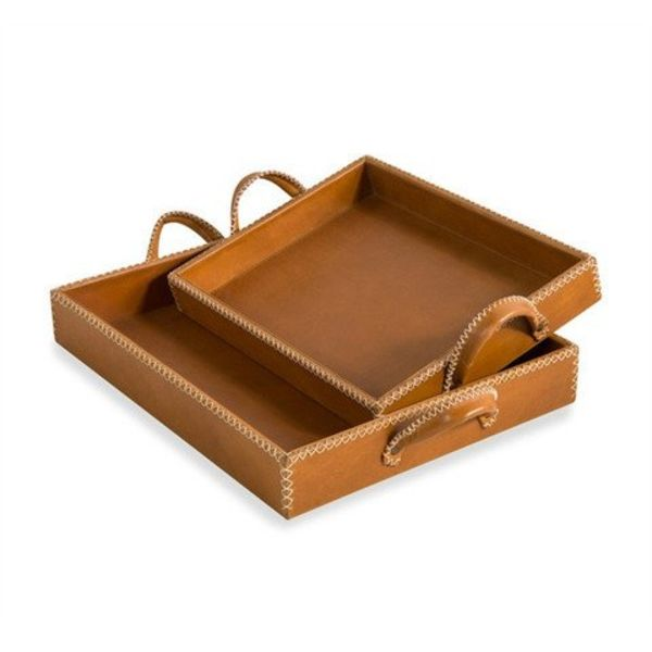 GREER LEATHER TRAYS