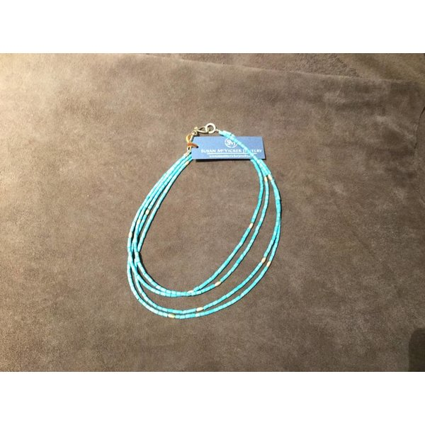 SMJ  Double Turquoise - Long or Choker