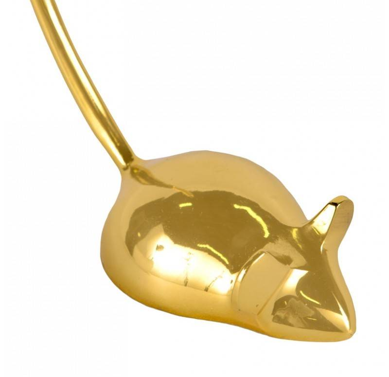 Gold Leaf Design Group Mouse Paper Weight - Brass