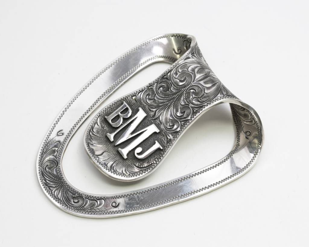 Clint Orms San Jacinto Sterling Silver Money Clip with Monogram