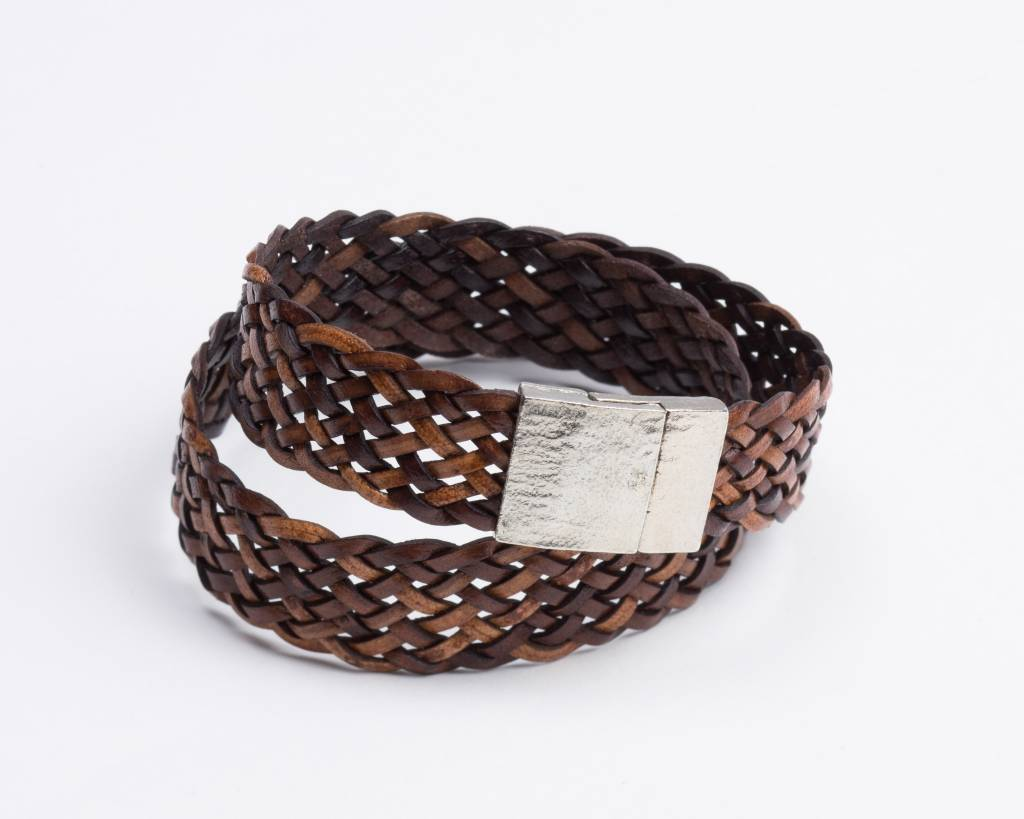 Braided Leather Bracelet Choker