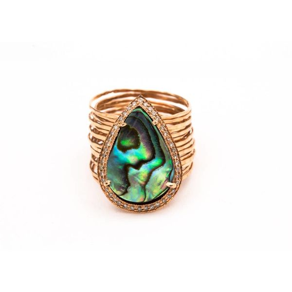 PAVE + ABALONE MULTI WAIF RING