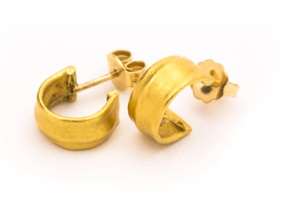 Eli Halili 24K GOLD GYPSY WIDE EARRINGS