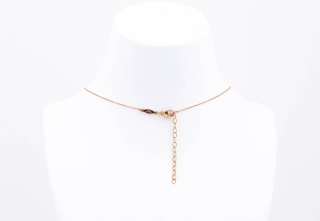 PAVE DIAMOND + OPAL BAR + LAPIS TRIANGLE Necklace