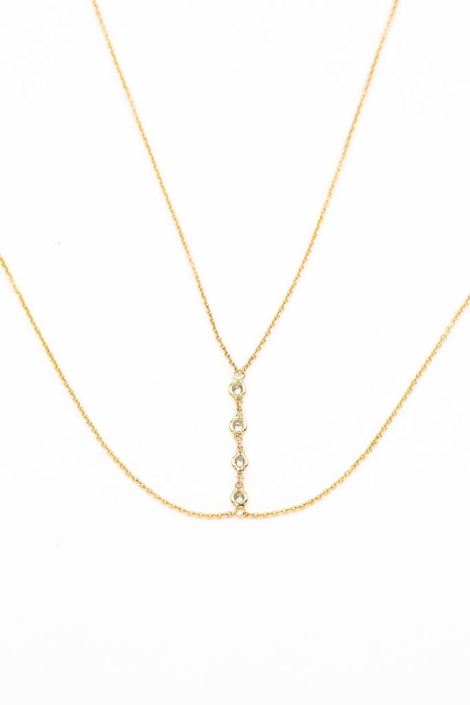 4 BEZEL DIAMOND BODY CHAIN