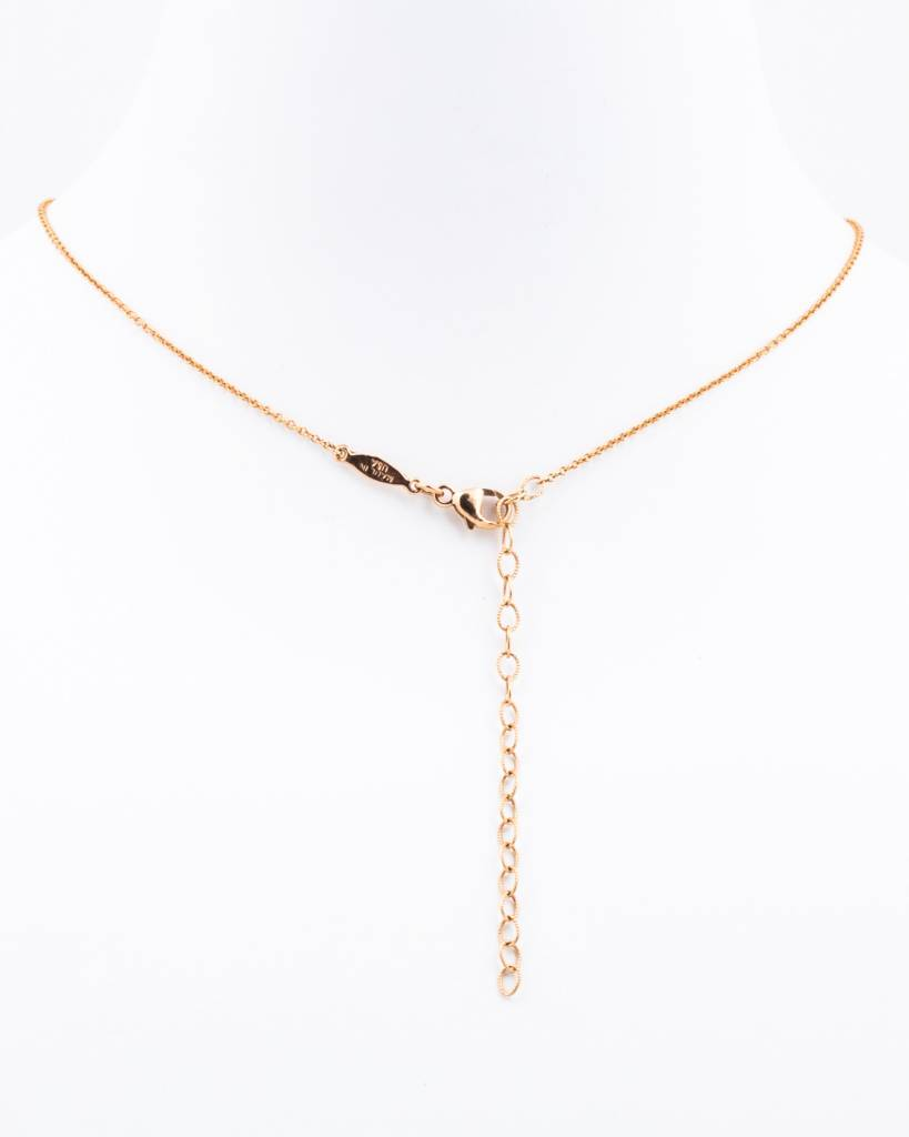14K DIAMOND CROSS Y NECKLACE