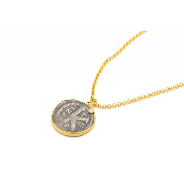 Coin Pendant + Diamond Necklace