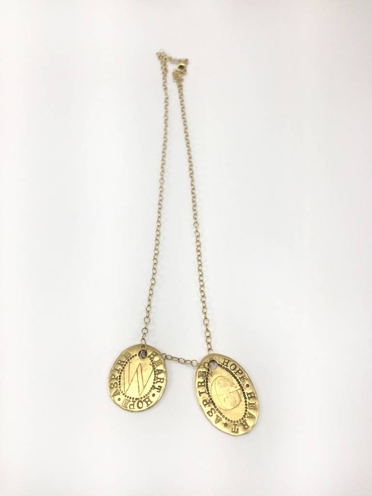 Aurora Lopez Mejia Beyond Initial Pendant on 18k Gold Chain