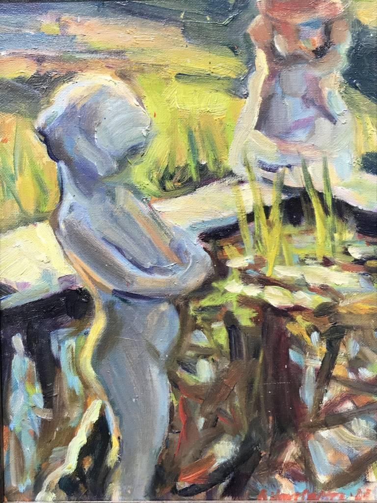 Deborah Harrington Statue in the Pond
