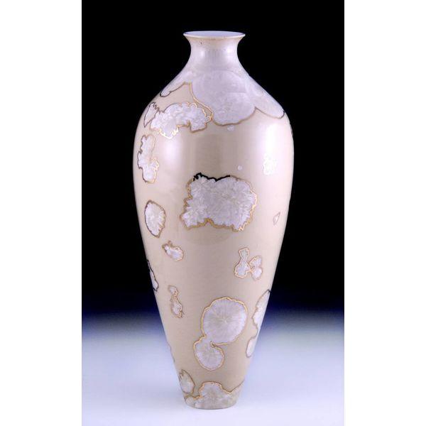 Golden Creme Vase