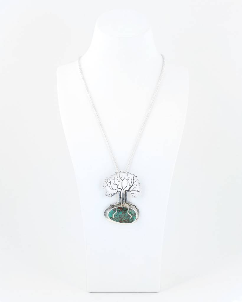 Sterling Trie-pendant with chain