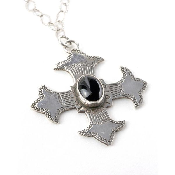 Blessed Black Cross - Pendant with Chain