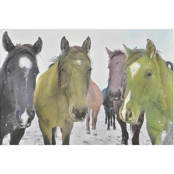 SIX SNOWY HORSES 5