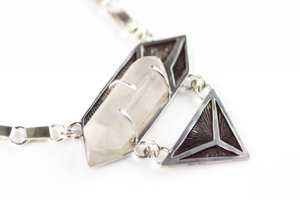 Triforce Quartz Crystal Necklace
