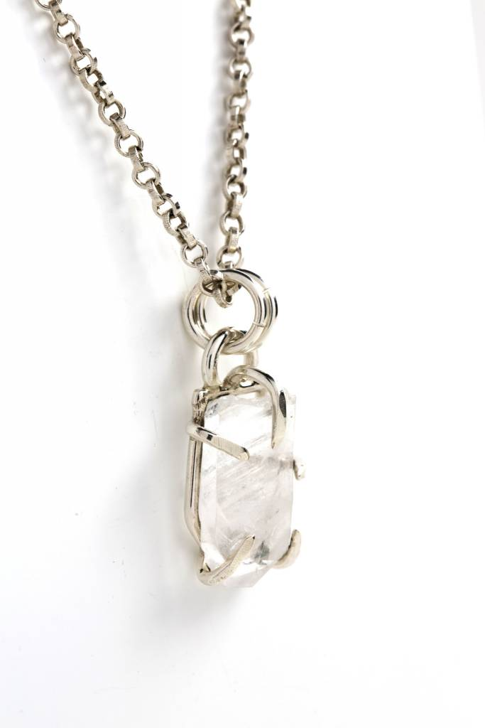 Quartz Crystal Pendant Claw Setting