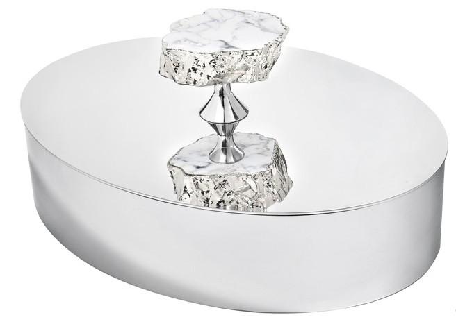 Heritage Vanity Box - Snowy Turquoise + Silver