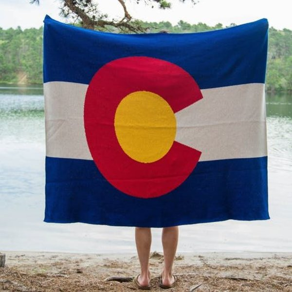 COLORADO FLAG THROW
