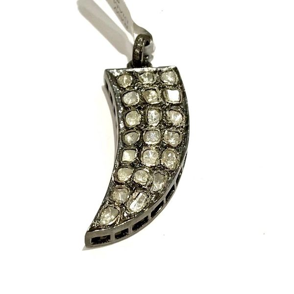 RAW DIAMOND TALON PENDANT