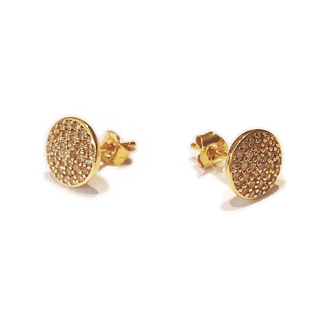 14K GOLD DIAMOND STUDS