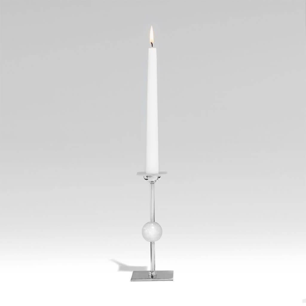 Small Ilumina Candleholder - Nickel + Crystal