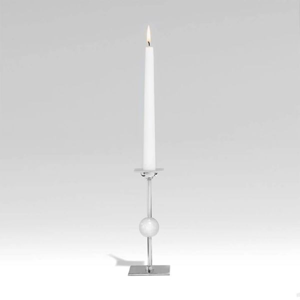 Large Ilumina Candleholder - Nickel + Crystal