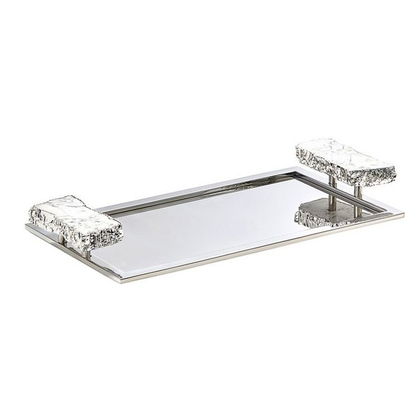 Heritage Medium Tray - Snowy Turquoise + Silver