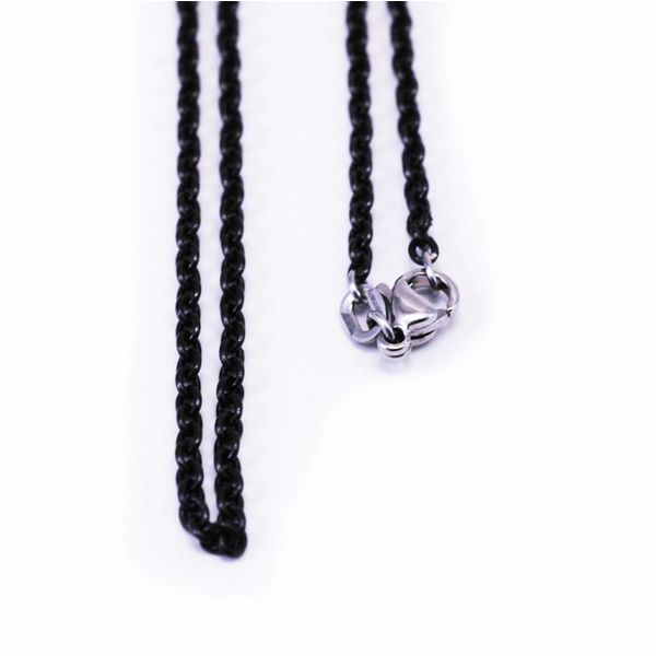Thin Blackened Steel Chain