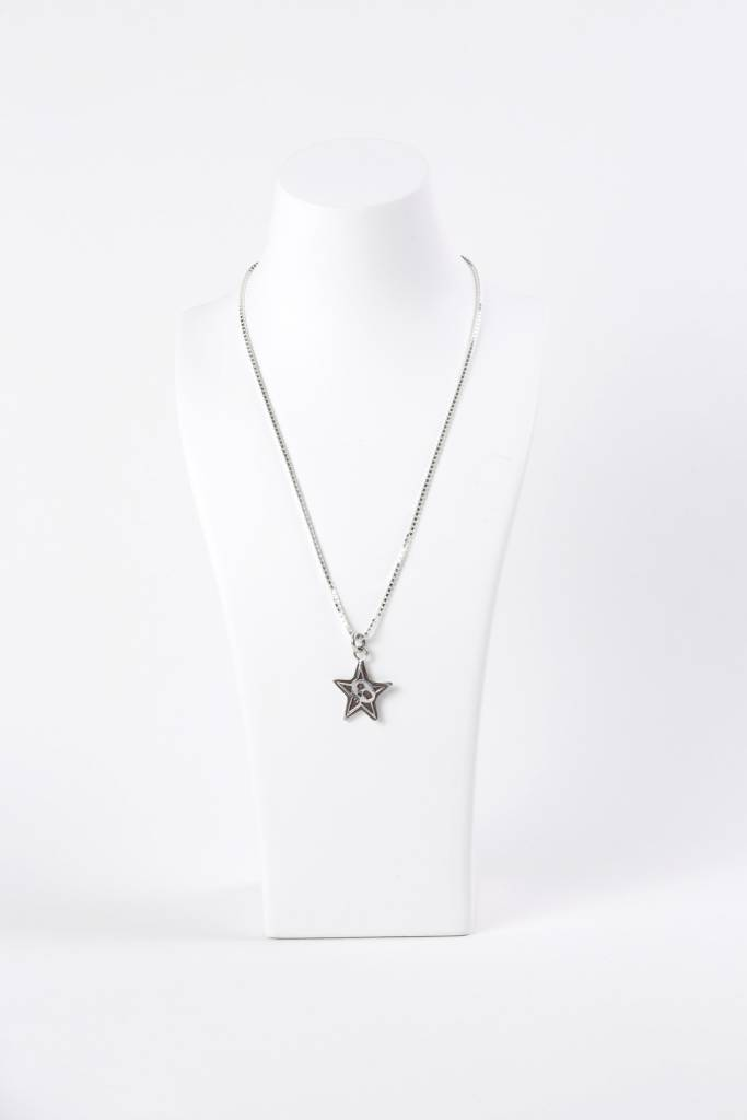 Star with Skull Pendant