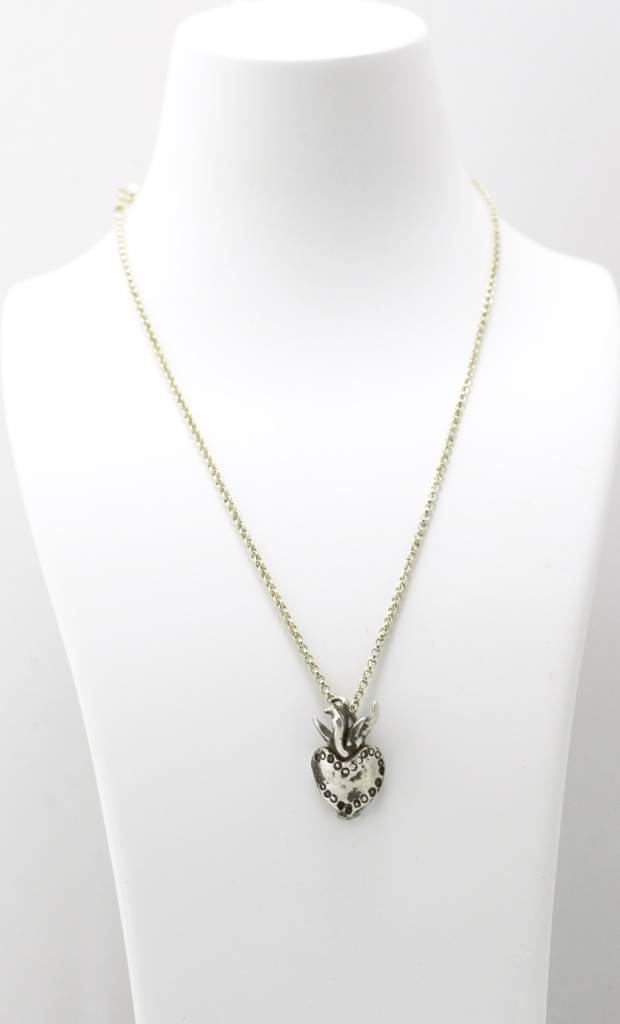 Burning Heart- Day of the Dead Pendant