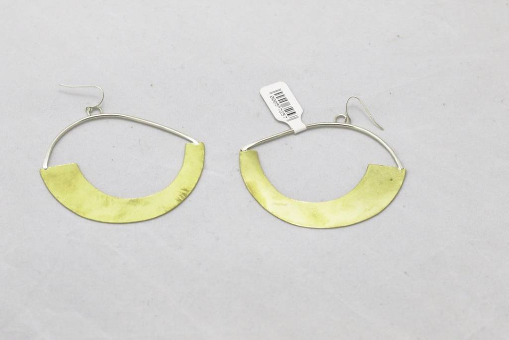 Large Hoop Bronze Earrings