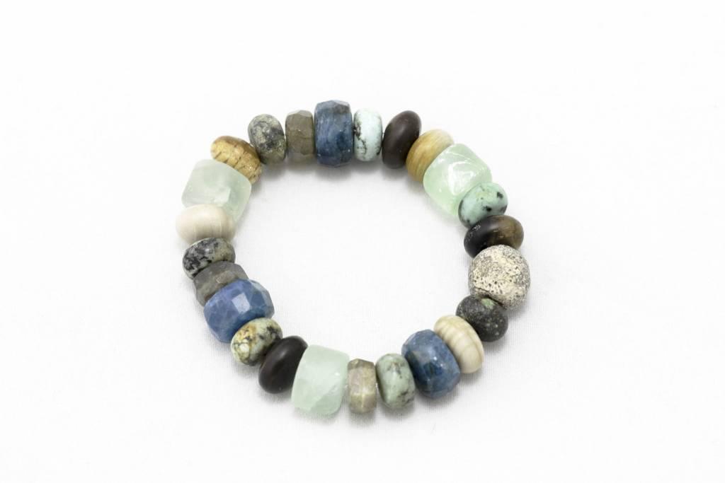 Stegodon + Apatite + Various Stones Bracelet