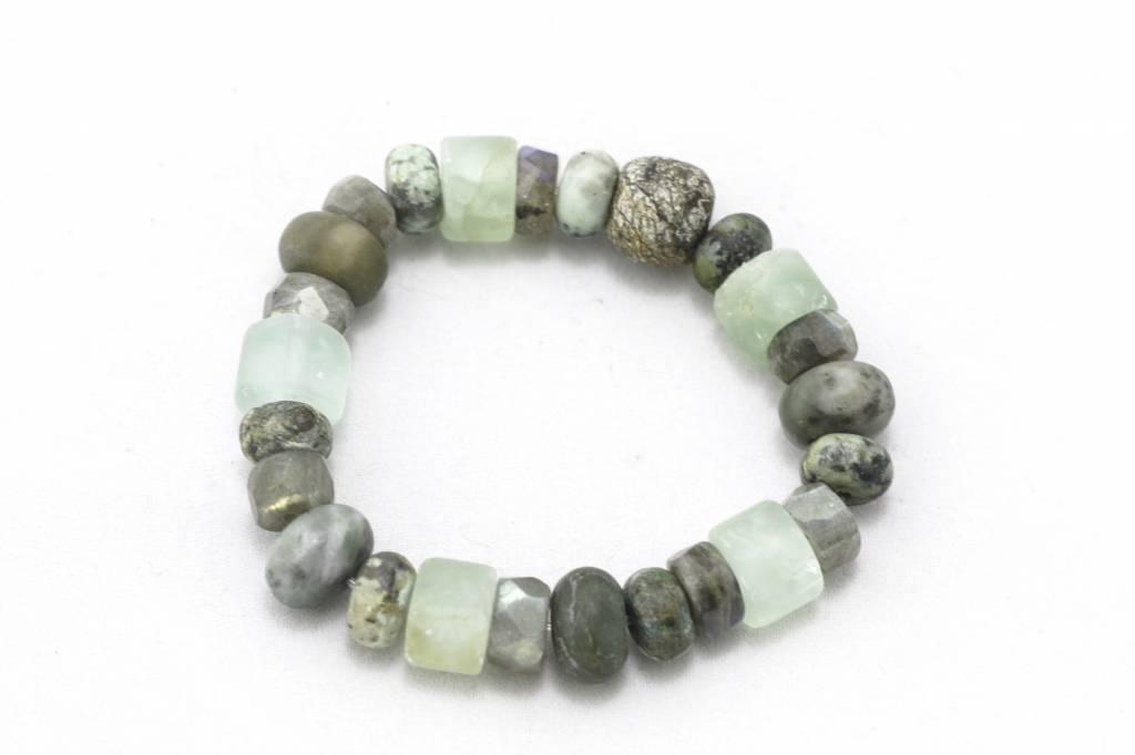 Jade + Stegodon + Various Stones Bracelet