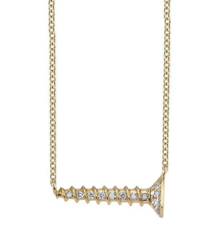 Horizontal Screw Necklace