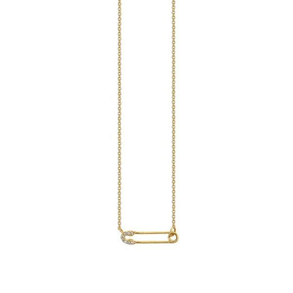 Small Safety Pin Necklace