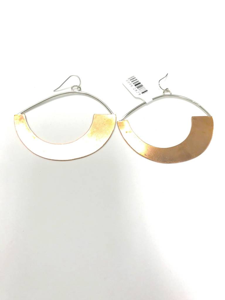 AJ Large Hoop Earrings Copper/Silver